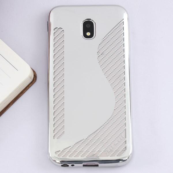 Ốp lưng Galaxy J3 pro Nhựa dẻo Pebbled Bạc