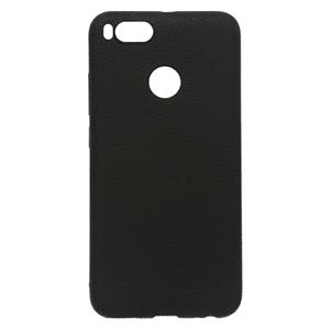 Ốp lưng Xiaomi Mi A1 Nhựa dẻo Tpu Case - Litchi Grain X-MOBILE Đen