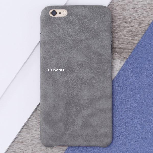 Ốp lưng iPhone 6 Plus - 6s Plus Nhựa dẻo Matte Skin PU COSANO Xám