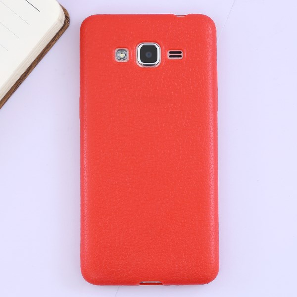 Ốp lưng Galaxy J2 Prime Nhựa dẻo Tpu Case - Litchi Grain X-MOBILE Đỏ