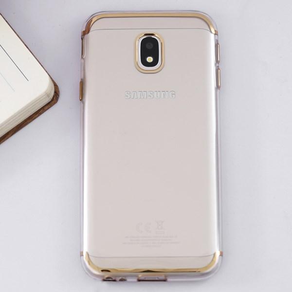 Ốp lưng Galaxy J3 pro Nhựa dẻo Tpu Electorplate Case 2 OSMIA Gold