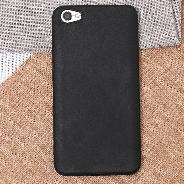 Ốp lưng Xiaomi Redmi Note 5A Nhựa dẻo Tpu Case - Litchi Grain Đen
