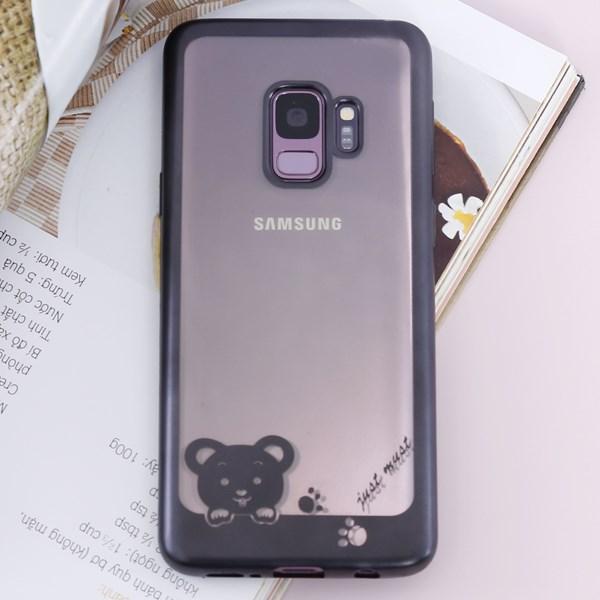 Ốp lưng Galaxy S9 Nhựa dẻo Footprint JM Đen