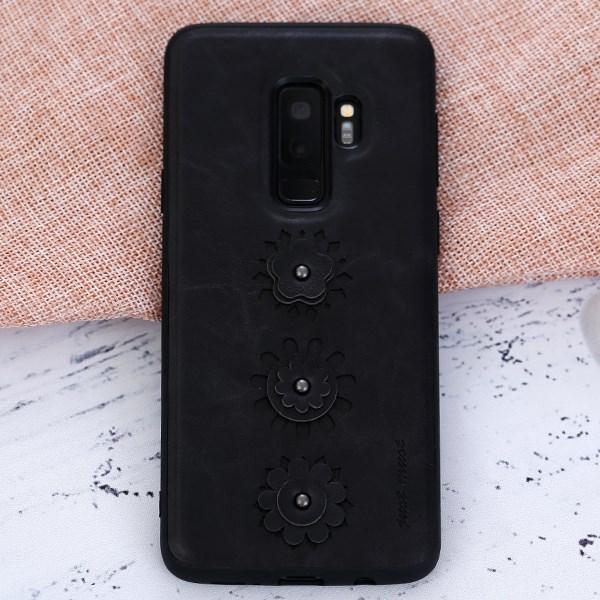 Ốp lưng Galaxy S9 Plus Nhựa dẻo PU Burch JM Đen