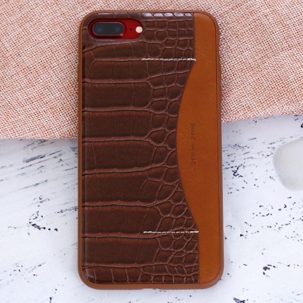 Ốp lưng iPhone 7 Plus - 8 Plus Nhựa dẻo PU Conn JM Nâu