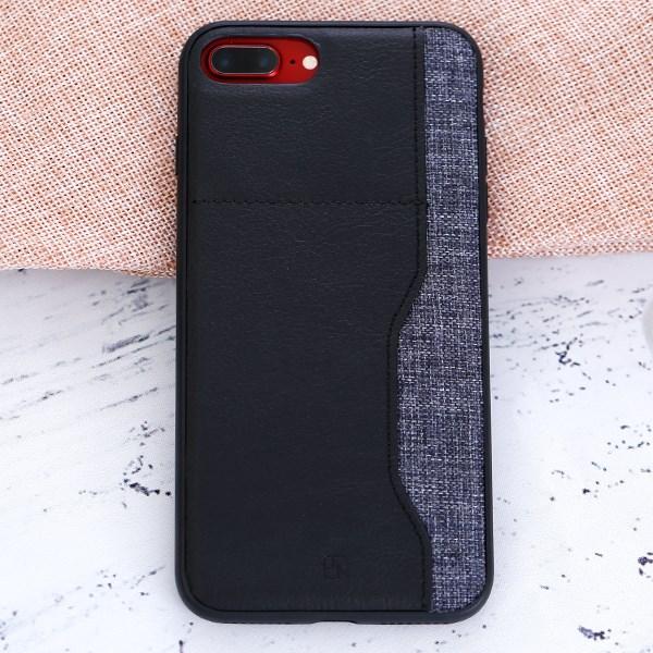 Ốp lưng iPhone 7 Plus - 8 Plus Nhựa dẻo PU Darty JM Đen