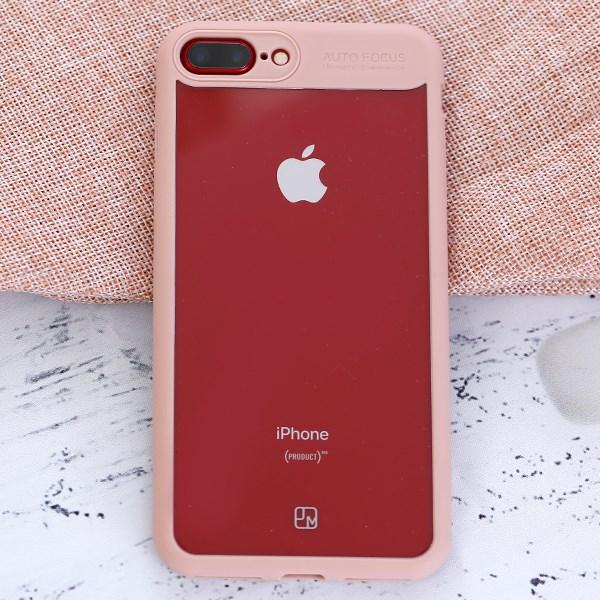 Ốp lưng iPhone 7 Plus - 8 Plus Nhựa cứng viền dẻo Pure III JM Rose