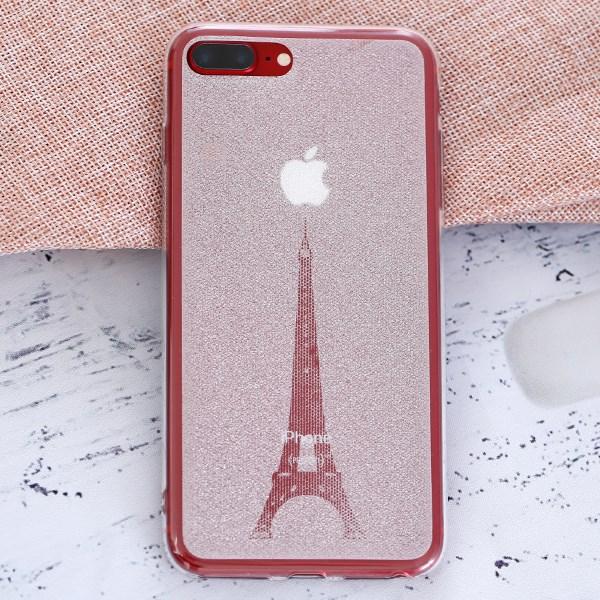 Ốp lưng iPhone 7 Plus - 8 Plus Nhựa dẻo Crystal COSANO SR170809 Tháp Eiffel