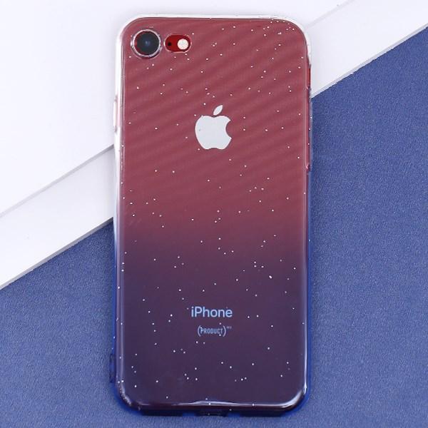 Ốp lưng iPhone 7-8 Nhựa dẻo Shining Powder COSANO Nude Xanh dương