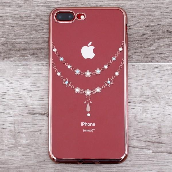 Ốp lưng iPhone 7 Plus - 8 Plus nhựa dẻo electroplate with diamond OSMIA CK170802