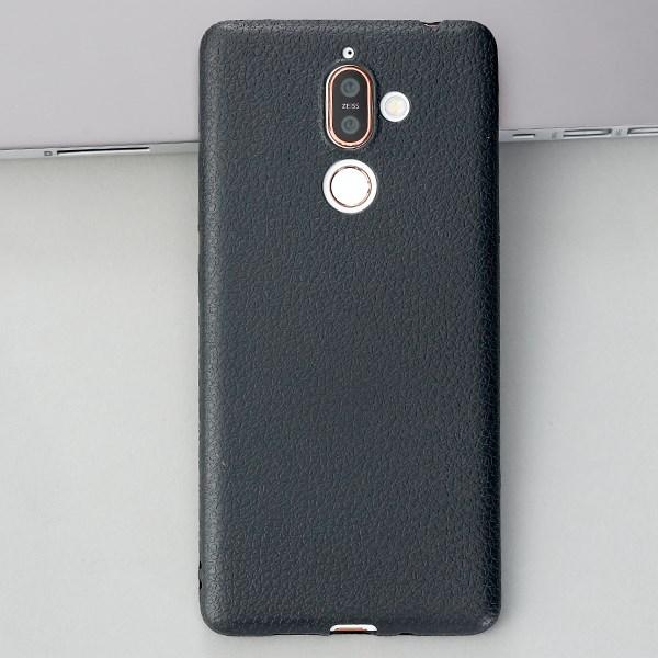 Ốp lưng Nokia 7 Plus nhựa dẻo TPU case Litchi Grain OSMIA Đen