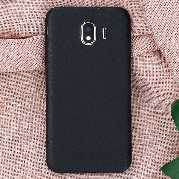 Ốp lưng Galaxy J4 nhựa dẻo TPU Case Litchi Grain OSMIA Đen