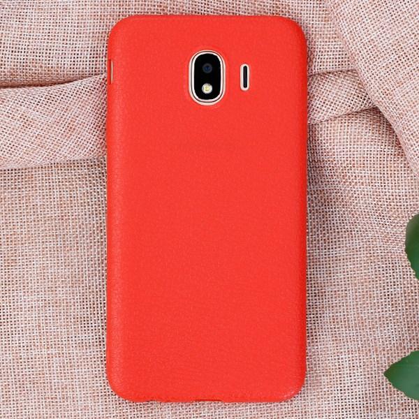 Ốp lưng Galaxy J4 nhựa dẻo TPU Case Litchi Grain OSMIA Đỏ