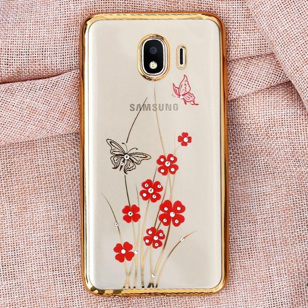 Ốp lưng Galaxy J4 nhựa dẻo Beauty OSMIA Hoa