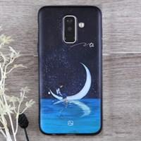 Ốp lưng Galaxy A6+ Nhựa dẻo Gloss Print JM JM18180401 Trăng nước