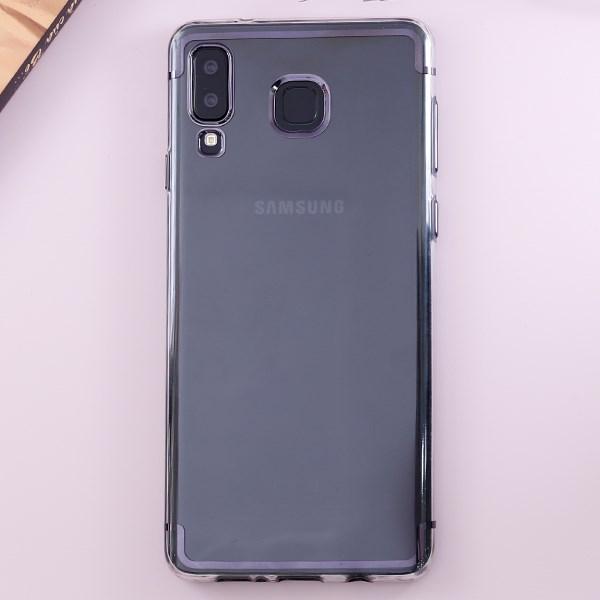 Ốp lưng Galaxy A8 Star nhựa dẻo TPU Electroplate case 2 OSMIA Xám