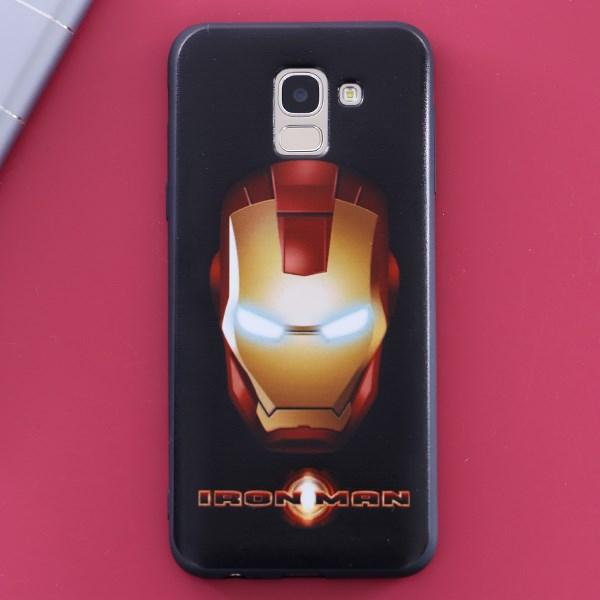 Ốp lưng Galaxy J6 nhựa dẻo UV Printing OSMIA CK-TG142 Iron Man