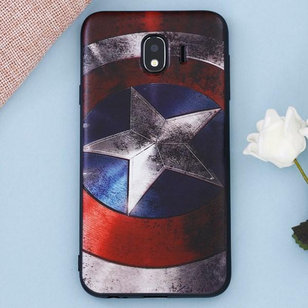 Ốp lưng Galaxy J4 nhựa dẻo UV Printing OSMIA CK-TG141 Captain America