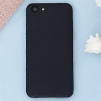 Ốp lưng Oppo A83 Nhựa dẻo Carbon Fibre TPU COSANO đen