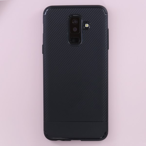 Ốp lưng Galaxy A6+ Nhựa dẻo New Carbon Fibre COSANO đen
