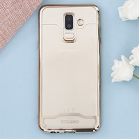 Ốp lưng Galaxy A6 Plus Nhựa dẻo Electroplating Circle COSANO gold