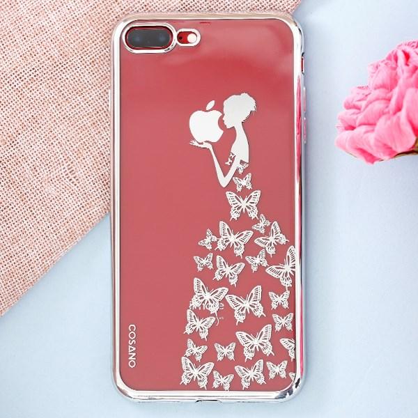 Ốp lưng iPhone 7 Plus - 8 Plus Nhựa dẻo Electroplating đầm dạ hội bạc