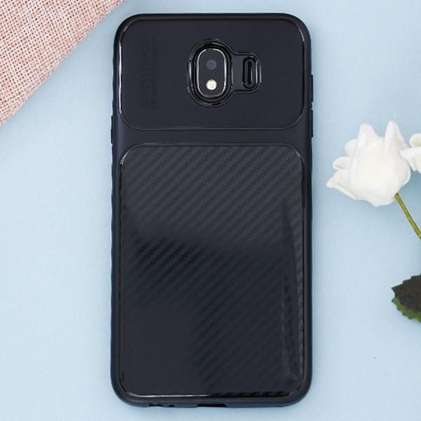 Ốp lưng Galaxy J4 Nhựa dẻo Glossy Carbon Fibre COSANO đen