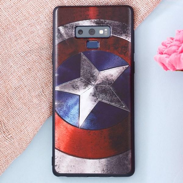 Ốp lưng Note 9 nhựa dẻo UV printing OSMIA CKTG141 Captain America