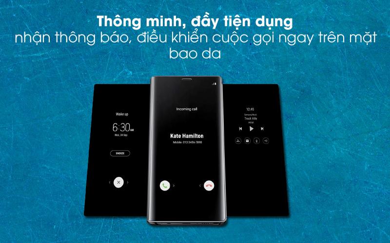 Thông minh, tiện dụng - Bao da Samsung Galaxy Note 9 Nắp gập Clear View Đen