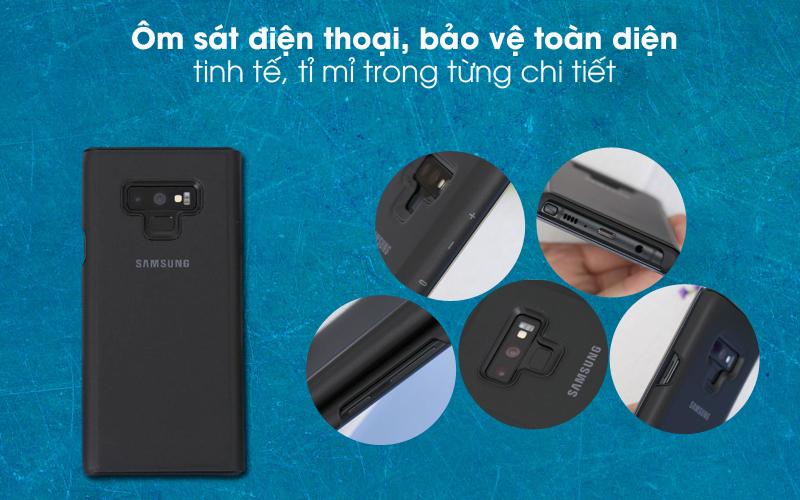 Bảo vệ hoàn hảo - Bao da Samsung Galaxy Note 9 Nắp gập Clear View Đen