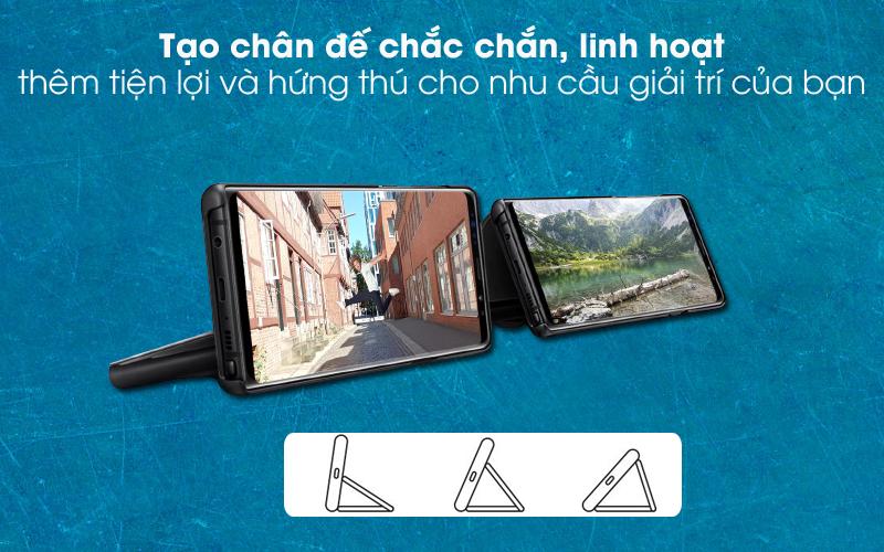 Tạo chân đỡ linh hoạt - Bao da Samsung Galaxy Note 9 Nắp gập Clear View Đen