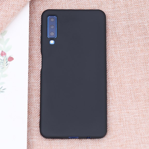 Ốp lưng Galaxy A7 2018 Nhựa dẻo Candy MEEKER Đen