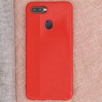 Ốp lưng Oppo F9 nhựa dẻo Carbon-Mix OSMIA Red