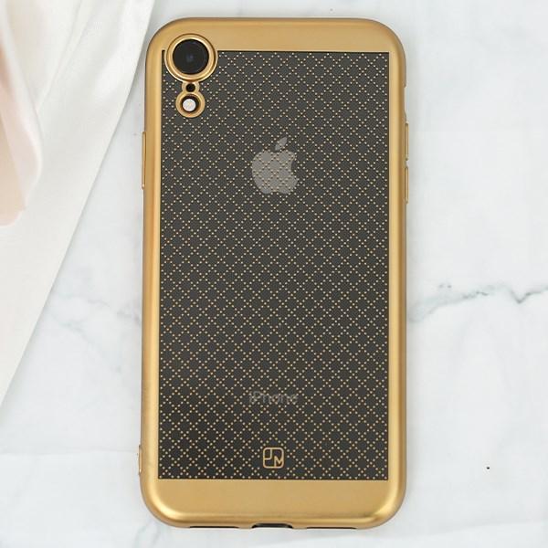Ốp lưng iPhone XR Nhựa dẻo Noisele JM gold
