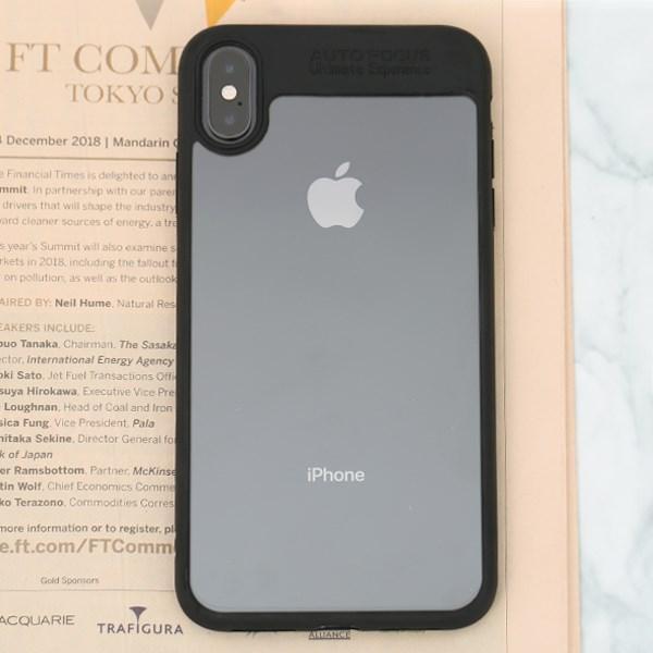 Ốp lưng iPhone XS Max Nhựa cứng viền dẻo Pure III JM đen