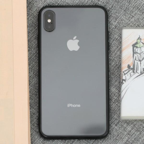 Ốp lưng iPhone XS Max Nhựa cứng viền dẻo New Candy JM đen