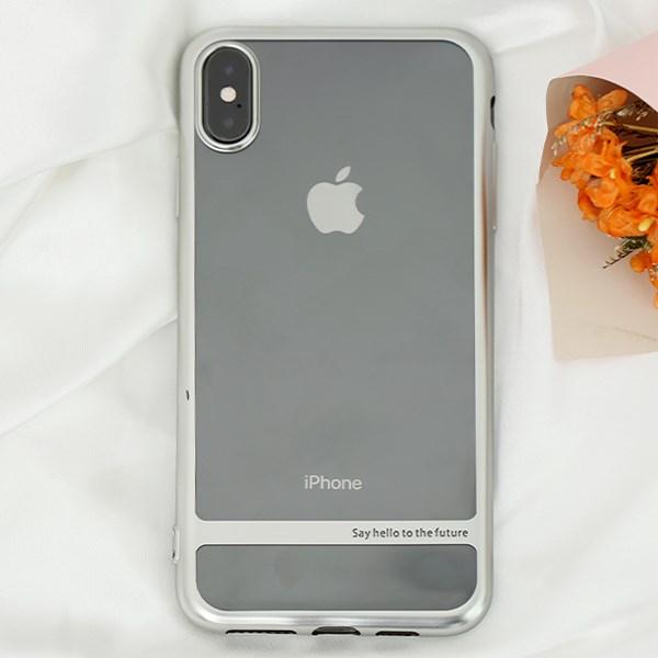 Ốp lưng iPhone XS Max Nhựa dẻo Electroplating future COSANO bạc