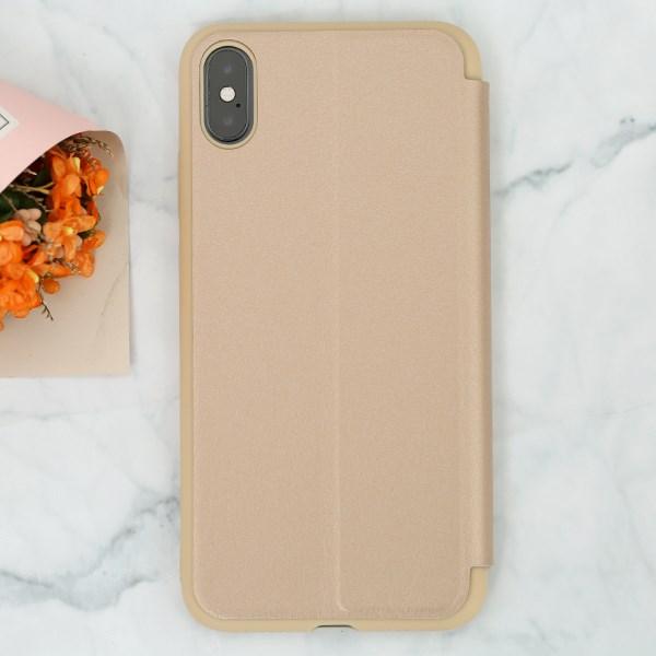Ốp lưng iPhone XS Max Nắp gập Stand flip MEEKER Gold
