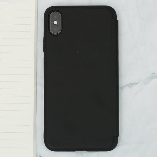 Ốp lưng iPhone XS Max Nắp gập Stand flip MEEKER Đen