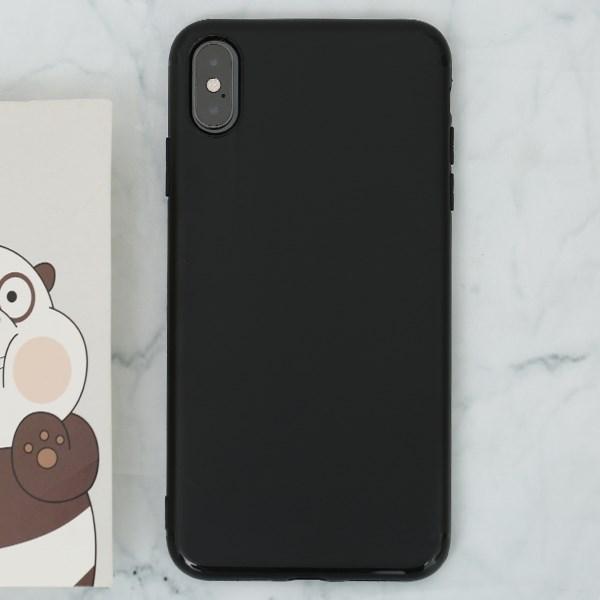 Ốp lưng iPhone XS Max nhựa dẻo Matte Solid OSMIA Đen