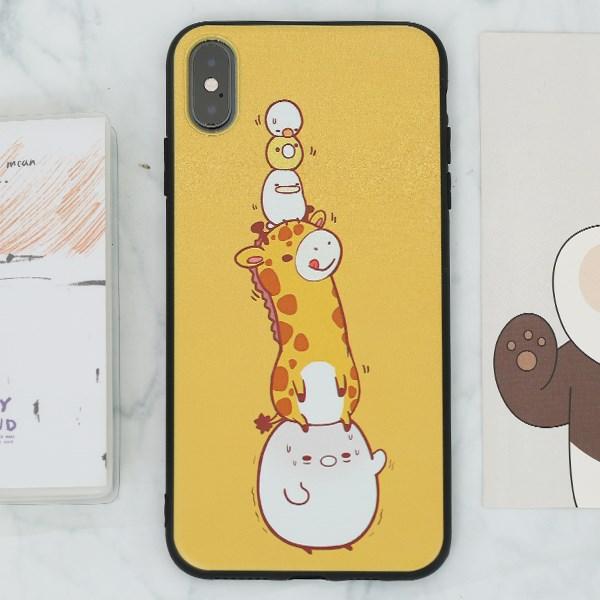 Ốp lưng iPhone XS Max nhựa dẻo UV printing OSMIA CKTG268 Vườn thú