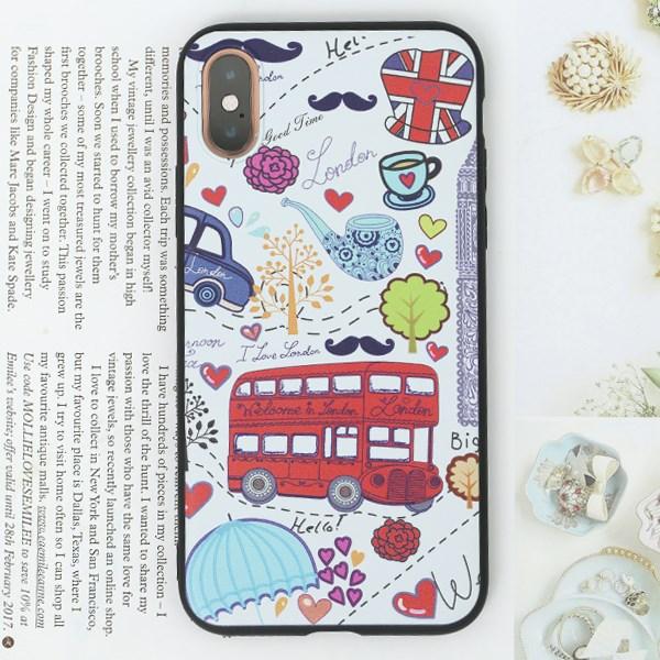 Ốp lưng iPhone XS Nhựa dẻo Solid print MEEKER TS002 London
