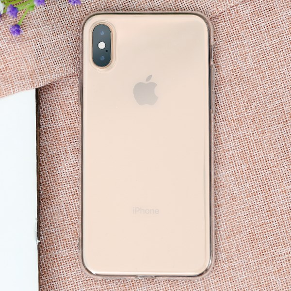 Ốp lưng iPhone XS nhựa dẻo Slim TPU OSMIA Nude