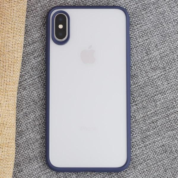 Ốp lưng iPhone X-XS Nhựa cứng viền dẻo Jelly Slim COSANO xanh navy