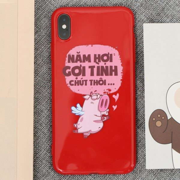 Ốp lưng iPhone XS Max Nhựa dẻo TPU Emboss Printing COSANO Gợi tình