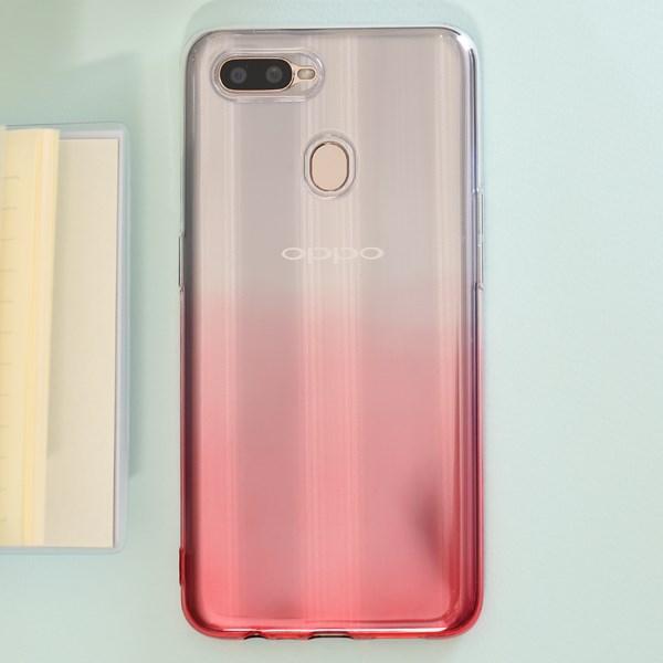 Ốp lưng Oppo A7 nhựa dẻo Double Color TPU OSMIA Đỏ tươi