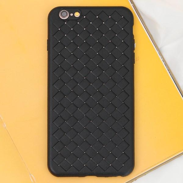 Ốp lưng iPhone 6 Plus - 6s Plus nhựa dẻo Woven OSMIA Đen
