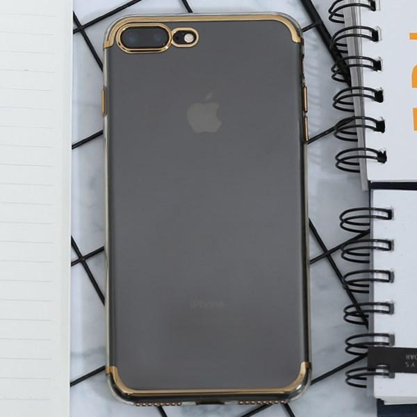 Ốp lưng iPhone 7+-8+ nhựa dẻo Electroplate case 2 OSMIA Gold