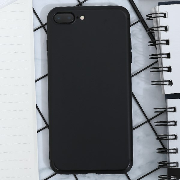 Ốp lưng iPhone 7/8+ nhựa dẻo Matte solid OSMIA Đen