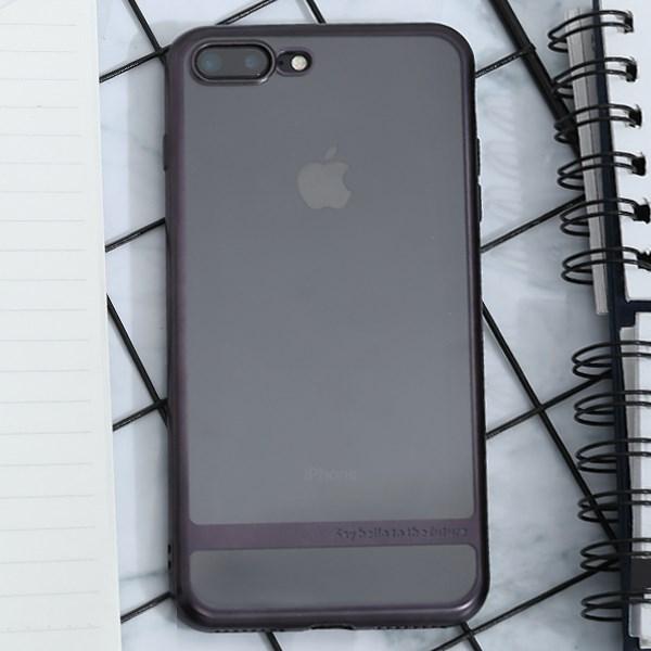 Ốp lưng iPhone 7 Plus - 8 Plus Nhựa dẻo Electroplating future COSANO đen